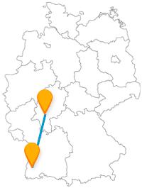 Eine Reise mit dem Fernbus Frankfurt Freiburg offenbart eventuell ein wenig den Kontrast zwischen den beiden Städten.