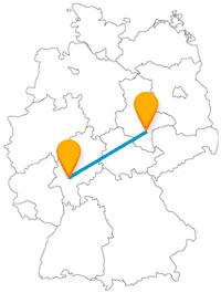 Die Fernbusreise von Frankfurt nach Halle bringt Sie zu einem unerwarteten Akustikerlebnis.