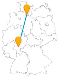 Treffen Sie auf Ihrer Reise mit dem Fernbus Frankfurt Hamburg auf einen Römer und viele Musikclubs.