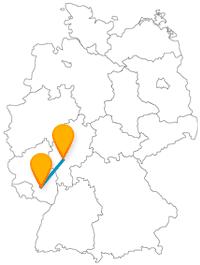 Historisch interessant die Fahrt mit dem Fernbus von Frankfurt am Main nach Kaiserslautern