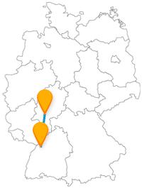 Mit dem Fernbus auf der Linie Karlsruhe - Frankfurt fahren
