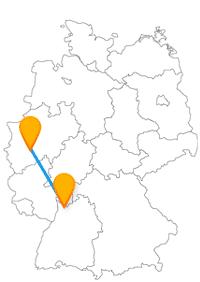 Wenn Sie mit dem Fernbus von Frankfurt nach Leverkusen unterwegs sind, können Sie sich auf die Frankfurter Buchmesse und eine Bierbörse freuen.