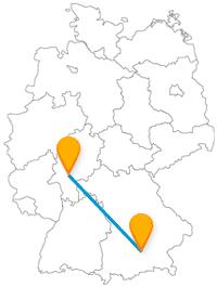 Fahren Sie mit dem Fernbus München Frankfurt am Main nach Mainhatten.