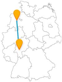 Pendeln Sie mit dem Fernbus von Frankfurt nach Oldenburg zwischen Großstadttrubel und Nordseeluft.