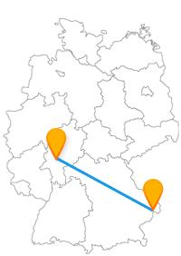 Fahren Sie mit dem Fernbus für Frankfurt - Passau zwischen Mainhattan und dem Venedig Bayerns.