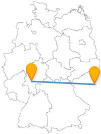 Auf der Reise mit dem Fernbus von Frankfurt nach Prag können Sie hoch hinaus.