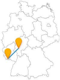 Die Reise mit dem Fernbus von Frankfurt nach Saarbrücken bringt Sie zu Kirchen, Schlössern und Domen.