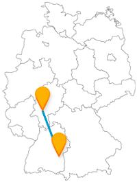 Die Reise mit dem Fernbus von Frankfurt nach Ulm bringt Sie zu einem schiefen Hotel. Lassen Sie sich überraschen.