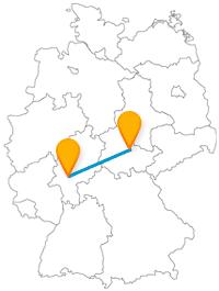 Verbinden Sie mit dem Fernbus zwischen Frankfurt und Weimar Apfelwein- und Lustschlossgenuss.