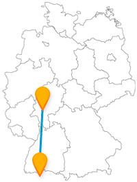 Gönnen Sie sich auf der Reise mit dem Fernbus zwischen Frankfurt und Zürich ein Glas Ebbelwei und einen Tag am Zürichsee.