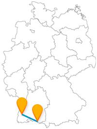 Fernbusverbindung Freiburg Friedrichshafen