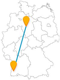 Die Reise mit dem Fernbus zwischen Freiburg und Hannover könnte sich zu einer Shoppingtour entwickeln.