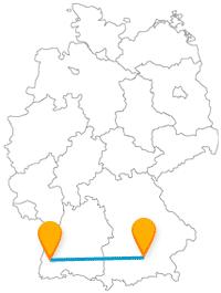 Fernbusverbindung Freiburg München