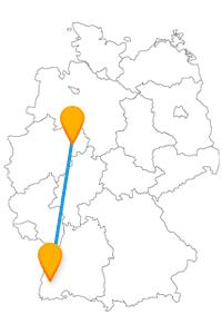 Sehen Sie auf Ihrem Städetrip mit dem Fernbus von Freiburg nach Paderborn den Schauinsland und den Paderborner Dom.