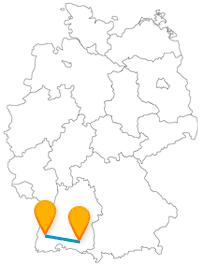 Der Fernbus von Freiburg nach Ravensburg bringt Sie vom Bächle zum schwäbischen Nürnberg.