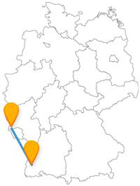 Wandertag oder berühmte Sehenswürdigkeit? Verbinden Sie mit der Reise im Fernbus zwischen Freiburg und Trier einfach beides.