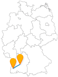 Nach der Reise im Fernbus von Freiburg nach Heidelberg können Sie eine Bächletour oder Bergbahn erleben.