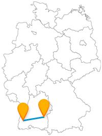 Die Reise mit dem Fernbus von Freiburg nach Ulm bringt Sie von einem Münster zum anderen.