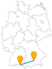 Fernbusverbindung Friedrichshafen München