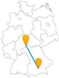Open-Air-Biergarten und Stadtschloss - die Reise mit dem Fernbus von Fulda nach München lohnt sich allemal.
