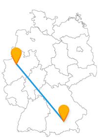 Mit dem Fernbus von Gelsenkirchen nach München gelangen Sie zu den Himmelstreppen und der Alten Pinakothek.