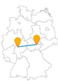 Altes Schloss, Neues Schloss und lustige Gebäudenamen können Sie mit dem Fernbus von Gießen nach Jena entdecken.