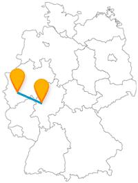 Erleben Sie auf Ihrer Reise mit dem Fernbus zwischen Gießen und Köln ein großmütig erbautes Schloss und eine große Wasserwelt.