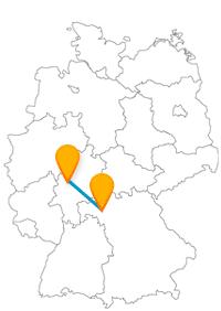 Ob kurzer oder langer Aufenthalt, der Fernbus Gießen Würzburg bringt Sie meist schnell ans Ziel.