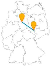 Die Fernbusreise zwischen Halle und Hannover gestaltet sich mit städtischen Attraktionen und grünen Anlagen sehr abwechslungsreich.