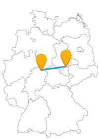 Die Fahrt im Fernbus zwischen Halle und Kassel könnte zu einer Burgen-Tour werden.