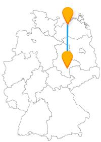 Entdecken Sie per Fernbus zwischen Halle und Rostock viel Theater und eine tolle Aussicht.