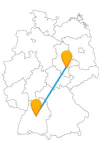 Nach der Fahrt im Fernbus Halle Stuttgart erwarten Sie 400 Treppen und ein imposantes Bauwerk.
