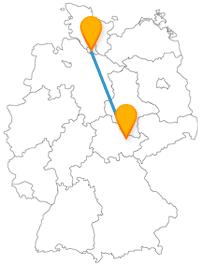 Möchten Sie auf Ihrer Reise mit dem Fernbus von Hamburg nach Jena einfach flanieren und eine schöne Aussicht genießen.