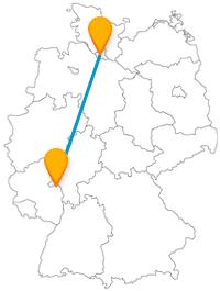 Die Busreise mit dem Fernbus von Hamburg nach Mainz könnte ein abwechslungsreiches Erlebnis werden.