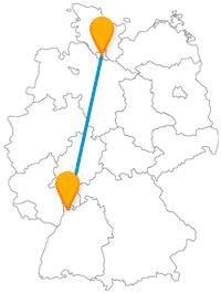 Mit dem Fernbus Hamburg Mannheim