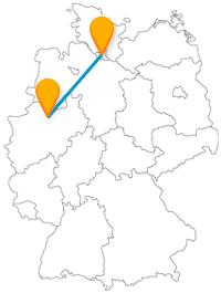 Mit dem Fernbus Hamburg Münster können Sie Hafenflair mit historischer Atmosphäre gut verbinden.