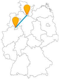 Ob Modelleisenbahn oder Natur- und Geopark, mit dem Fernbus von Hamburg nach Osnabrück können Sie beides besichtigen.