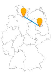 Sie reisen mit dem Fernbus Hamburg - Potsdam zu zwei großartigen Städten.