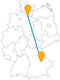 Verbinden Sie mit der Fernbusfahrt von Hamburg nach Regensburg Großstadtflair mit beschaulicher Atmosphäre.
