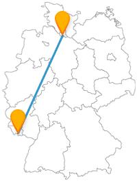 Der Fernbus von Hamburg nach Saarbrücken fährt Sie von der berühmtesten Straße zu einem schönen Fleckchen.