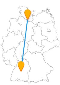 Tolle Aussichten und charmantes Stadtambiente erwarten Sie nach der Fahrt im Fernbus zwischen Hamburg und Tübingen.