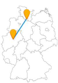 Genießen Sie auf der Reise mit dem Fernbus Hamburg Unna den Kontrast der beiden Städte.