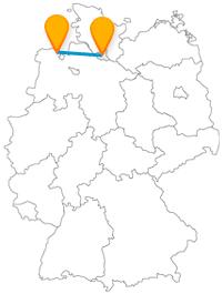 Große Parkanlagen erwarten Sie nach der Reise im Fernbus zwischen Hamburg und Wilhelmshaven.