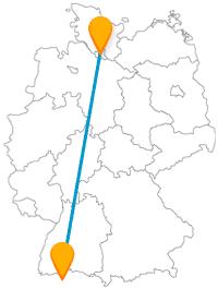 Bringen Sie für die Reise mit dem Fernbus zwischen Hamburg und Zürich Wanderslust und guten Appetit mit.