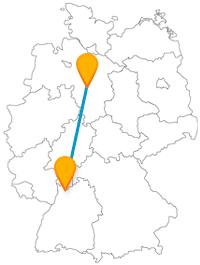 Auf der Reise mit dem Fernbus zwischen Hannover und Heidelberg kann es bunt, aber auch ruhig zugehen.