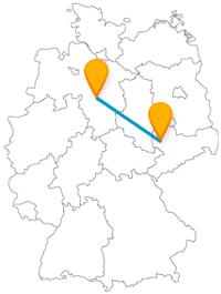 Die Reise mit dem Fernbus zwischen Hannover und Leipzig bringt Sie zu Gärten, Tiere und Kirchen.