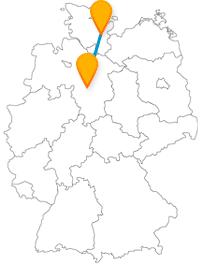 Der Fernbus zwischen Hannover und Lübeck bringt Sie in große Stadtdimensionen.