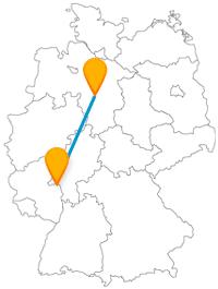 Die Reise mit dem Fernbus von Hannover nach Mainz führt Sie zum guten alten Druck-Medium Buch.
