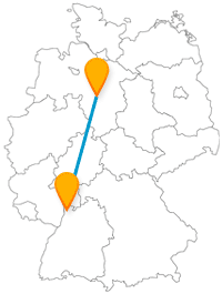 Ob Kunst oder Natur, die Reise mit dem Fernbus zwischen Hannover und Mannheim hat für beides viel zu bieten.