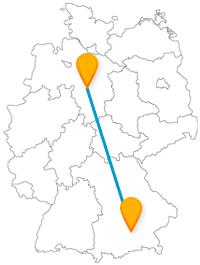 Ein Fahrt mit dem Fernbus von Hannover nach München kann zu einem Naturerlebnis werden.